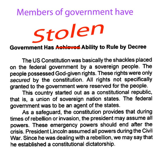 Members of government have stolen