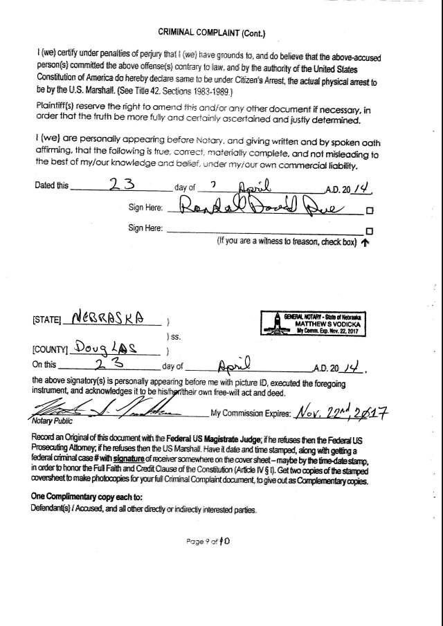 Env M 18, rec 4-28-2014 CC 1 Thalken, Keneally, Baily, Foxall, Hubbard, Capt West and Floor sgt. Corbett 4-23-2014, filed 5-1-2014_Page_11