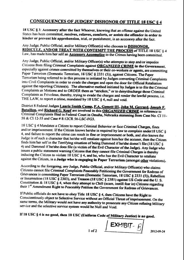 Env M 18, rec 4-28-2014 CC 1 Thalken, Keneally, Baily, Foxall, Hubbard, Capt West and Floor sgt. Corbett 4-23-2014, filed 5-1-2014_Page_14