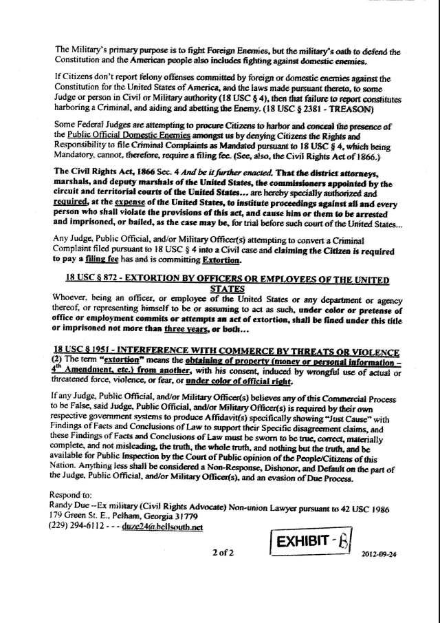 Env M 18, rec 4-28-2014 CC 1 Thalken, Keneally, Baily, Foxall, Hubbard, Capt West and Floor sgt. Corbett 4-23-2014, filed 5-1-2014_Page_15