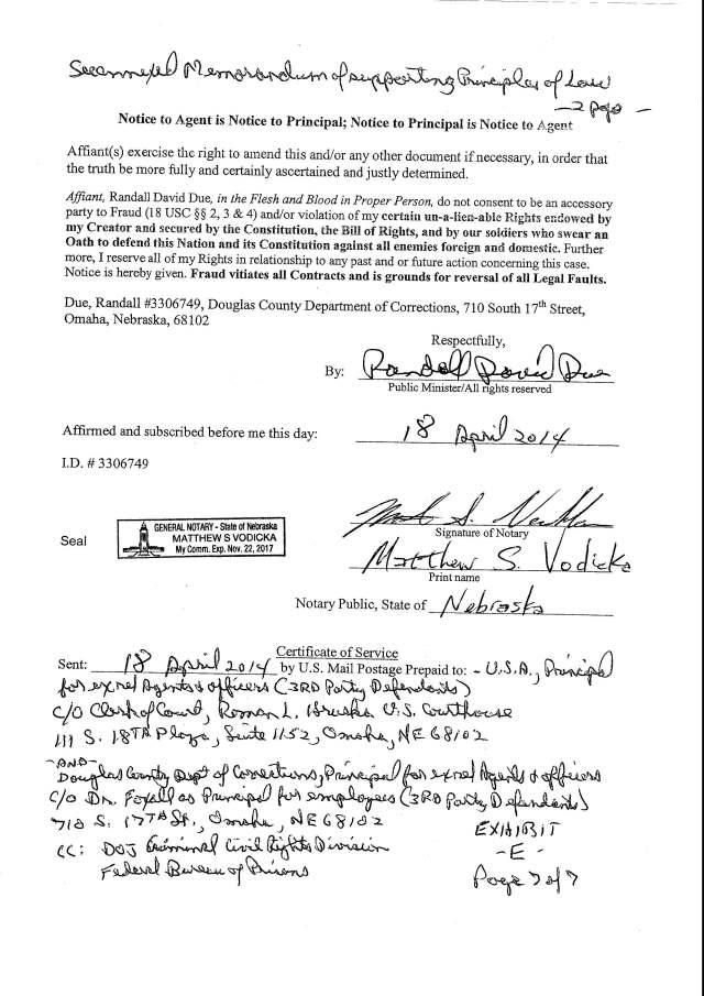 Env M 18, rec 4-28-2014 CC 1 Thalken, Keneally, Baily, Foxall, Hubbard, Capt West and Floor sgt. Corbett 4-23-2014, filed 5-1-2014_Page_27