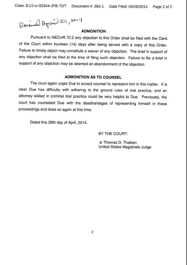 Env M 20 rec 5-15-2014 Criminal Counter Claim Complaint caases 8 13 CV 122 and 8 12 CR 344_Page_28