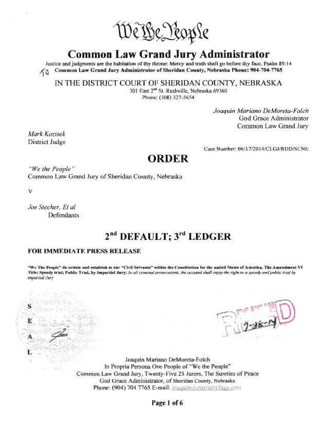 07-28-2014 Order to Restore Property and Kidnaped Prisoners _Page_01