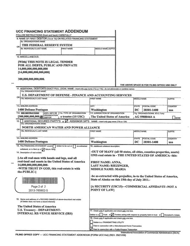 AVR UCC 1 Affidavit A page 2