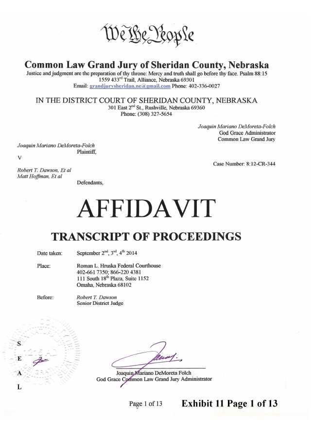 Joaquin 2014-12-6 Exhibit 11 CJGJ Affidavit transcript Randy_Page_01