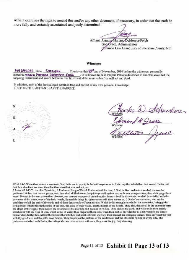 Joaquin 2014-12-6 Exhibit 11 CJGJ Affidavit transcript Randy_Page_13