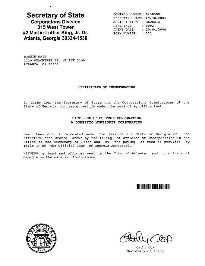 Georgia Public Purpose Corporation 2004 | Scanned Retina – A