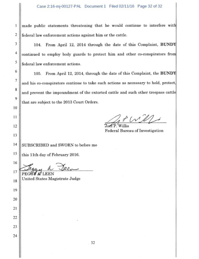 US Corp vs Cliven Bundy Complaint 02-11-2016_Page_32