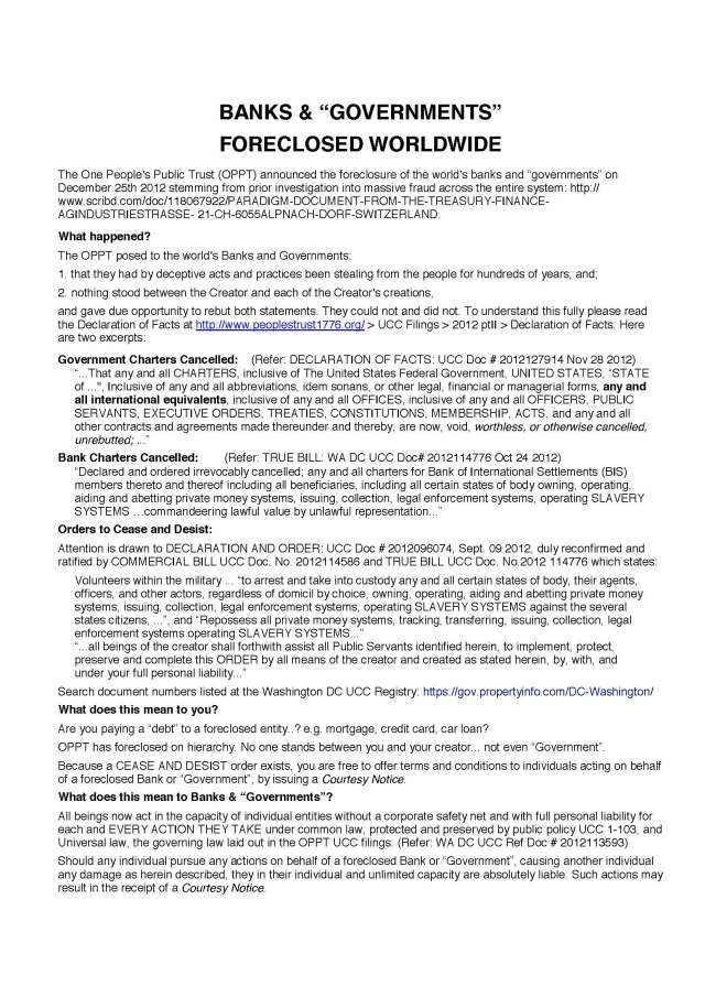 "BANKS & ""GOVERNMENTS"" FORECLOSED WORLDWIDE 133504271-the-foreclosure-flyer_page_1"