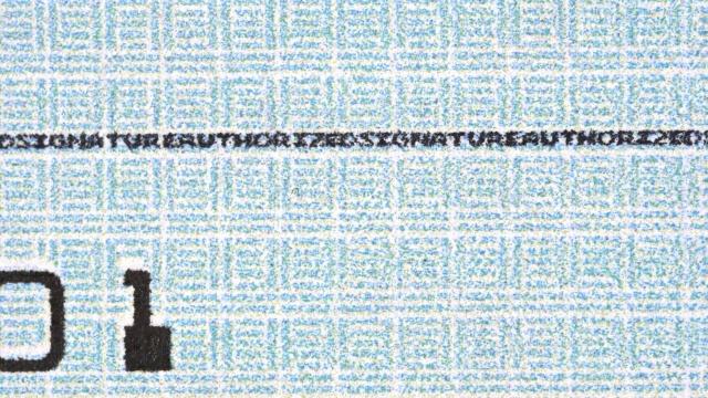 Signature line checking account - Version 2